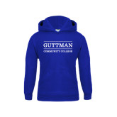 Community College Youth Royal Fleece Hoodie-Guttman Community College Word Mark