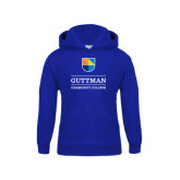 Youth Royal Fleece Hood-Guttman Community College w/ Shield