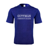 Performance Royal Heather Contender Tee-Guttman Community College Word Mark