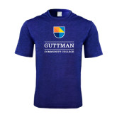 Performance Royal Heather Contender Tee-Guttman Community College w/ Shield