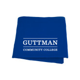 Community College Royal Sweatshirt Blanket-Guttman Community College Word Mark