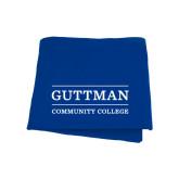 Royal Sweatshirt Blanket-Guttman Community College Word Mark