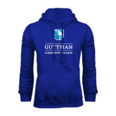 Community College Royal Fleece Hoodie-Guttman Community College Striped Shield