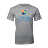 Grey T Shirt-Guttman Community College w/ Shield