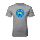 Sport Grey T Shirt-Circle Logo