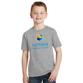 Youth Grey T-Shirt-Guttman Community College w/ Shield