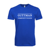 Next Level SoftStyle Royal T Shirt-Guttman Community College Word Mark