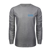 Grey Long Sleeve T Shirt-Guttman Community College Word Mark