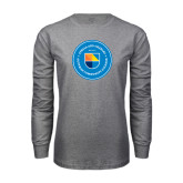 Grey Long Sleeve T Shirt-Circle Logo