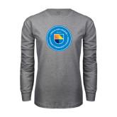 Grey Long Sleeve T Shirt-Circle Logo