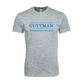 Next Level SoftStyle Heather Grey T Shirt-Guttman Community College Word Mark