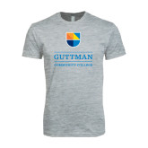 Next Level SoftStyle Heather Grey T Shirt-Guttman Community College w/ Shield