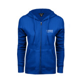 ENZA Ladies Royal Fleece Full Zip Hoodie-Guttman Community College Word Mark
