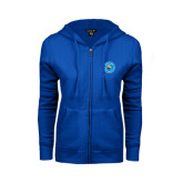 ENZA Ladies Royal Fleece Full Zip Hoodie-Circle Logo