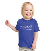 Toddler Royal T Shirt-Guttman Community College Word Mark