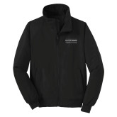 Community College Black Charger Jacket-Guttman Community College Word Mark