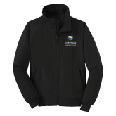 Community College Black Charger Jacket-Guttman Community College w/ Shield