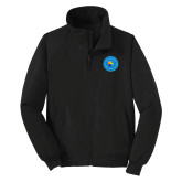 Community College Black Charger Jacket-Circle Logo