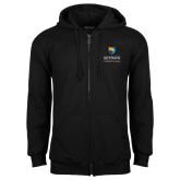 Black Fleece Full Zip Hood-Guttman Community College w/ Shield