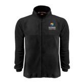 Fleece Full Zip Black Jacket-Guttman Community College w/ Shield