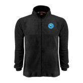 Fleece Full Zip Black Jacket-Circle Logo