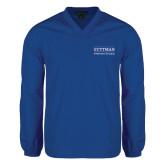 V Neck Royal Raglan Windshirt-Guttman Community College Word Mark