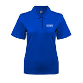 Ladies Easycare Royal Pique Polo-Guttman Community College Word Mark