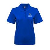 Ladies Easycare Royal Pique Polo-Guttman Community College w/ Shield