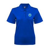 Community College Ladies Easycare Royal Pique Polo-Circle Logo