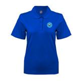 Ladies Easycare Royal Pique Polo-Circle Logo