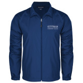 Community College Full Zip Royal Wind Jacket-Guttman Community College Word Mark