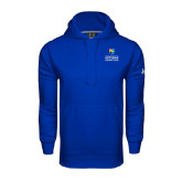 Community College Under Armour Royal Performance Sweats Team Hoodie-Guttman Community College w/ Shield