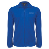 Fleece Full Zip Royal Jacket-Guttman Community College Word Mark