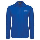 Fleece Full Zip Royal Jacket-Guttman Community College Word Mark