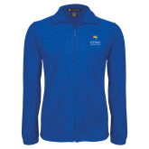 Fleece Full Zip Royal Jacket-Guttman Community College w/ Shield