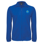 Fleece Full Zip Royal Jacket-Circle Logo