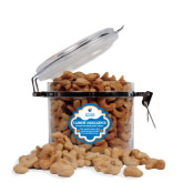 Cashew Indulgence Round Canister-Guttman Community College w/ Shield