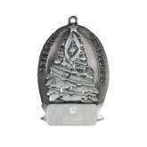Pewter Tree Ornament-Guttman Community College Striped Shield