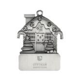 Pewter House Ornament-Guttman Community College Striped Shield