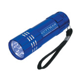 Industrial Triple LED Blue Flashlight-Guttman Community College Word Mark Engrave