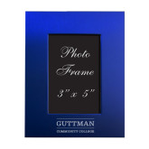 Royal Brushed Aluminum 3 x 5 Photo Frame-Guttman Community College Word Mark Engrave