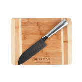 Oneida Cutting Board and Santoku Knife Set-Guttman Community College Word Mark Engrave