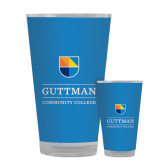 Full Color Glass 17oz-Guttman Community College w/ Shield
