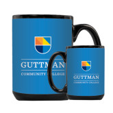 Full Color Black Mug 15oz-Guttman Community College w/ Shield