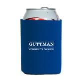 Community College Neoprene Royal Can Holder-Guttman Community College Word Mark