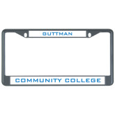 Metal License Plate Frame in Black-Guttman Community College
