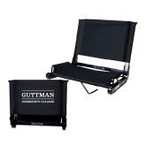Stadium Chair Black-Guttman Community College Word Mark