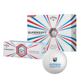 Callaway Supersoft Golf Balls 12/pkg-Guttman Community College w/ Shield