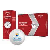 Callaway Chrome Soft Golf Balls 12/pkg-Guttman Community College w/ Shield