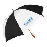 62 Inch Black/White Umbrella-Guttman Community College Word Mark